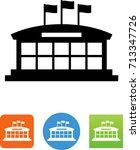 event center icon   Shutterstock .eps vector #713347726
