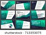 business presentation templates ... | Shutterstock .eps vector #713353075