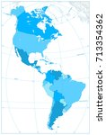 north and south america map in... | Shutterstock .eps vector #713354362