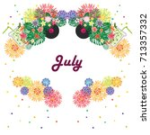 vector illustration for july... | Shutterstock .eps vector #713357332
