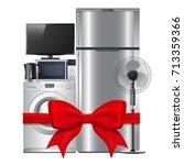 group of household appliances... | Shutterstock .eps vector #713359366