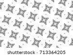 ornament with elements of black ... | Shutterstock . vector #713364205