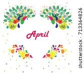vector illustration for april... | Shutterstock .eps vector #713364826