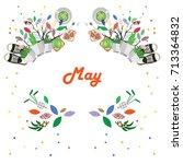 vector illustration for may... | Shutterstock .eps vector #713364832