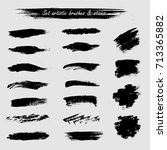set of artist acrylic hard... | Shutterstock .eps vector #713365882