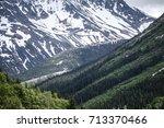 mountain range inn british...   Shutterstock . vector #713370466