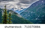 white pass mountains in british ...   Shutterstock . vector #713370886