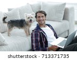 Successful Guy And His Pet In A ...