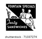 fountains specials   retro ad... | Shutterstock .eps vector #71337274