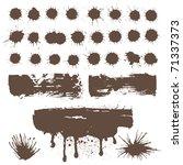 design element for grunge ink | Shutterstock .eps vector #71337373