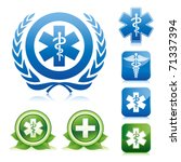 medical icons on various glossy ... | Shutterstock .eps vector #71337394
