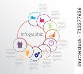 vector infographic templates... | Shutterstock .eps vector #713377636