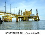 oil rig in offshore area | Shutterstock . vector #71338126