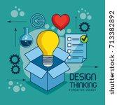 design thinking creative ideas... | Shutterstock .eps vector #713382892