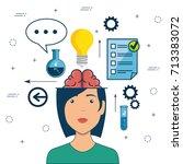 design thinking creative ideas... | Shutterstock .eps vector #713383072