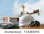 safety in construction  safety... | Shutterstock . vector #713384092
