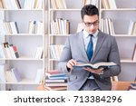 business law student working... | Shutterstock . vector #713384296