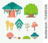 vector of tree | Shutterstock .eps vector #713385106