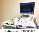 ultrasound machine and... | Shutterstock . vector #713388376
