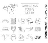 interpreter and translator set... | Shutterstock .eps vector #713392642