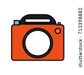photographic camera icon image  | Shutterstock .eps vector #713398882