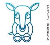 anteater animal cartoon | Shutterstock .eps vector #713403796