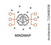 mindmap. creative idea concept. ... | Shutterstock .eps vector #713408338