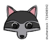 racoon animal cartoon | Shutterstock .eps vector #713408542