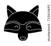racoon animal cartoon | Shutterstock .eps vector #713414692