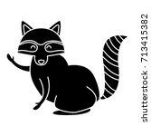 racoon animal cartoon | Shutterstock .eps vector #713415382
