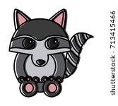 racoon animal cartoon | Shutterstock .eps vector #713415466