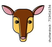 anteater animal cartoon | Shutterstock .eps vector #713416156