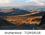scenic drive through rural...   Shutterstock . vector #713418118