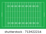 top views of american football... | Shutterstock .eps vector #713422216