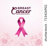 breast cancer awareness month... | Shutterstock .eps vector #713426902