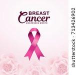 breast cancer awareness month... | Shutterstock .eps vector #713426902