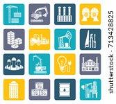 industry icon set vector | Shutterstock .eps vector #713428825
