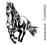 running horse | Shutterstock .eps vector #713430022