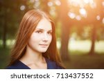close up portrait of young... | Shutterstock . vector #713437552