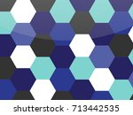 colorful honeycomb vector... | Shutterstock .eps vector #713442535