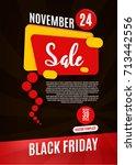 black friday sale flyer design...   Shutterstock .eps vector #713442556