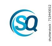 initial letter sq logotype... | Shutterstock .eps vector #713443012