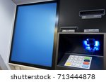 atm money machine deposits and... | Shutterstock . vector #713444878