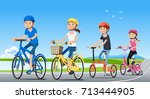 traveling with family holiday... | Shutterstock .eps vector #713444905