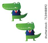 crocodile illustration | Shutterstock .eps vector #713448892