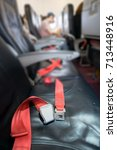 the seat on the plane | Shutterstock . vector #713448916