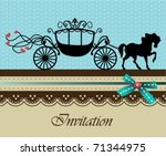 invitation card with carriage   ... | Shutterstock .eps vector #71344975