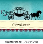 invitation card with carriage   ... | Shutterstock .eps vector #71344990