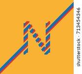 letter n uppercase vector from... | Shutterstock .eps vector #713454346