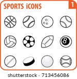 basic vector sports icon set...   Shutterstock .eps vector #713456086